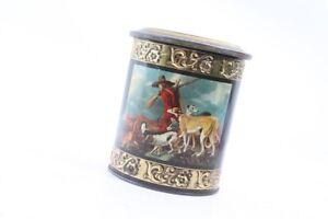 Old Metal Box Tin Can Collector Old Vintage Jäger Motif