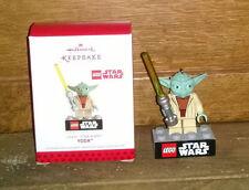 2013 Boxed Hallmark Keepsake Christmas Tree Ornament - Lego Star Wars Yoda