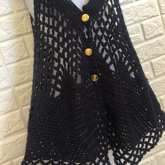 Free People knit open front crochet sweater vest - image 3