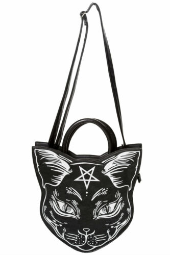 Kitty Nemesis Gothic Borsa Banned tracolla Pentragram a Cat Apparel Occult q7Fxnt