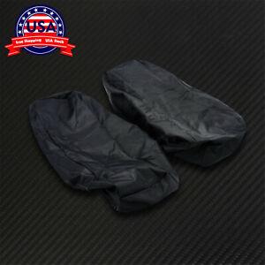 Speaker Lids Rain Dust Water Proof Cover for Harley Touring Softail SaddleBag