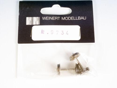 Weinert 9734 ø 10,5 mm Spitzenachsen 25,0 mm RP25 Scheibenradsätze