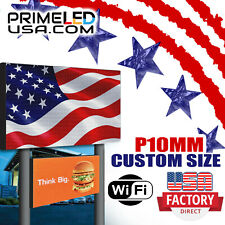 Wifi Led Sign P10 Full Color Indooroutdoor Text Photo Video 125 X 3775