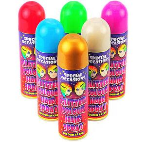 24-x-200ml-Glitter-Colour-Hair-Spray-Red-Green-Gold-Blue-Purple-Silver
