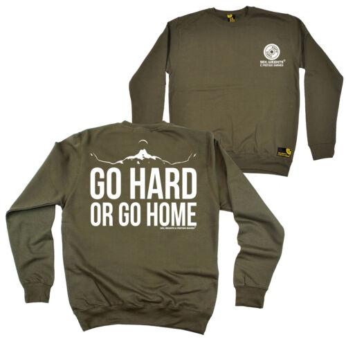 FB Gym Bodybuilding Sweatshirt Go Hard Novelty Birthday Sweater Jumper