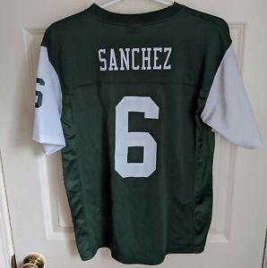 MARK SANCHEZ New York NY Jets NFL Team Apparel Football Jersey Youth Large 14-16