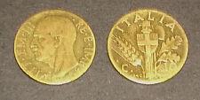 """Collezionismo/Banconote """"MONETA VITTORIO EMANUELE III RE E IMPERATORE C.10"""" 1940"""