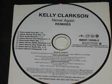 KELLY CLARKSON - Never Again - Remixes - 9 Track DJ PROMO CD! RARE! Dave Aude