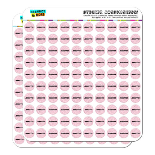 """Scrapbooking Crafting Stickers Names Female Jea-Jet 0.5/"""" 1//2/"""""""