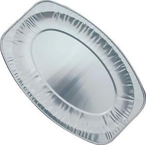 "10 x 14/"" Aluminium Foil Serving Platters 43cm Oval Strong"