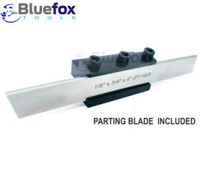 """Lathe Clamp Type Parting Cut Off Tool Holder 10mm Shank With 1//2/"""" HSS Blade x 5"""