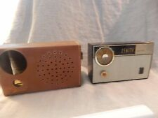 Vintage Zenith Royal 475  Transistor Radio with Case