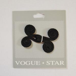 55mm negro doble cierre de gancho y ojal de diseño de desplazamiento Hebilla Vogue Star