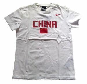Haut femme NIKE Chine Logo T shirt blanc taille S, XL UK 8
