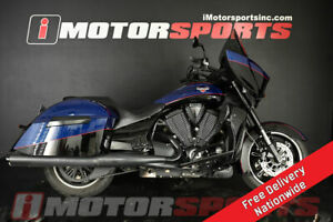 2014 Victory Cross Country Factory Custom Paint Boss Blue & Glo