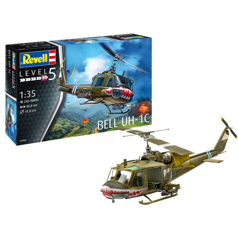 Revell Bell UH-1C Helicopter Model Set (Level 5) (Scale 1 35) 04960 NEW