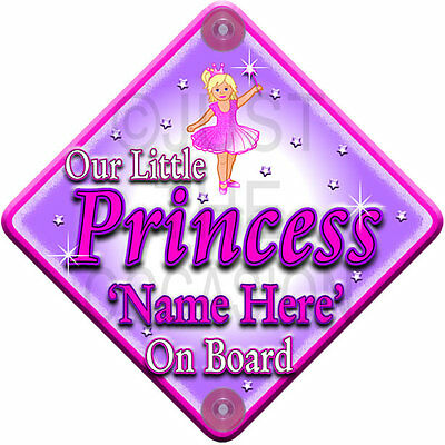 Handmade Non Personalised Mummy /& Daddy/'s Little Princess Baby on Board Car Sign