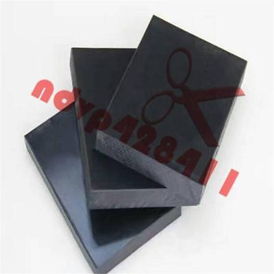 1pcs 6mmx100mmx100mm ACETAL POM Plastic Polyoxymethylene Plate Sheet Black #B51
