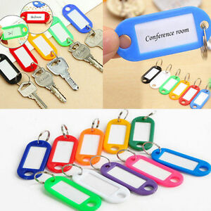 5Pcs-Assorted-Color-Keychain-Key-Tags-ID-Label-Name-Card-Key-Tags-Split-Ring