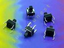 Stk. 5 x Taster / Tact Switch (4 pin) 6x6x 7 mm Reset Arduino 12V #A657