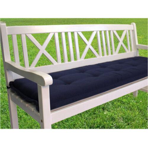 Bankauflage 180x46 Bankkissen Sitzauflage Auflage Kissen Garten Terrassen Blau