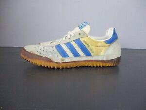 Details about Vtg Adidas Indoor Court White/Blue Size 9
