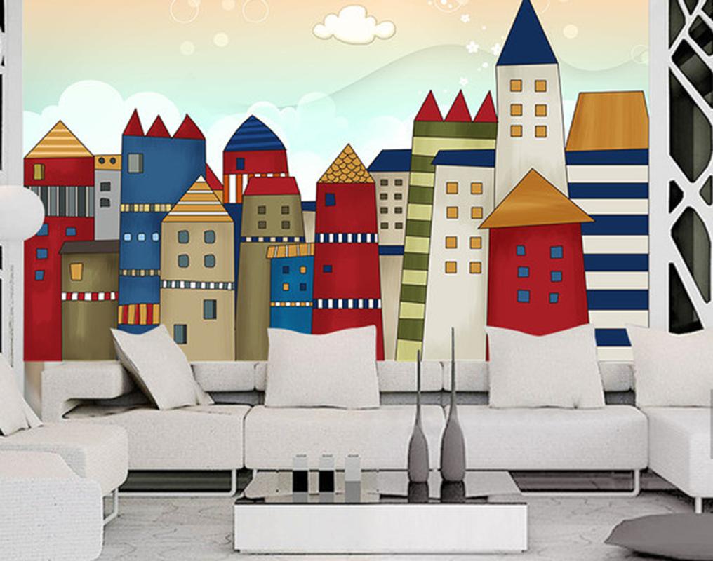 3D Farbe Haus Himmel 789 Tapete Wandgemälde Tapeten Bild Familie DE Summer | Kaufen Sie beruhigt und glücklich spielen  | Abrechnungspreis  | Spezielle Funktion