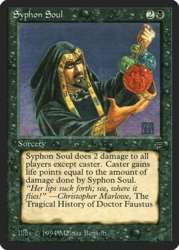 Syphon Soul Legends NM-M Black Common MAGIC THE GATHERING MTG CARD ABUGames