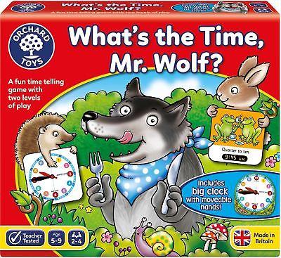 Bene Orchard Toys Qual è Il Tempo, Signor Lupo? Gioco Educativo Puzzle Bn-mostra Il Titolo Originale
