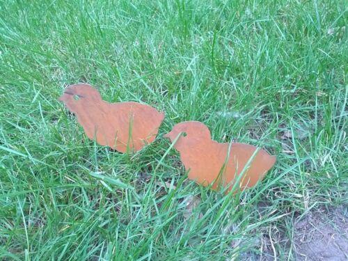Deco Iron Metal Animal Gartendeko Rust Garden Statues 2st Precious Rust Chicks