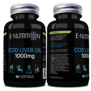 Lebertran-Kapseln-1000mg-Hohe-Staerke-Omega-3-EPA-amp-DHA-Vitamin-D