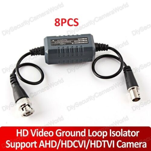 8x BNC Ground Loop Isolator Prevent Video Distortion Passive No Power Required