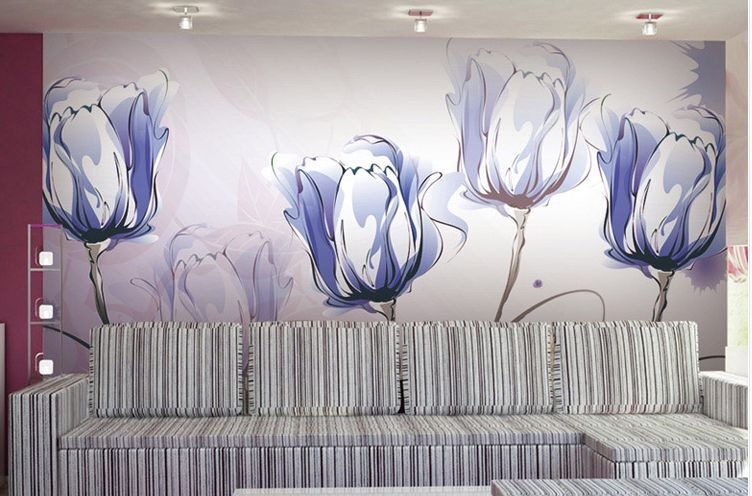 3D Flower sketch 1566 Paper Wall Print Decal Wall Wall Murals AJ WALLPAPER GB