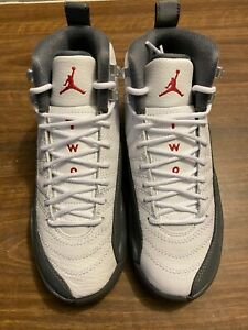 Air Jordan 12 White/Dark Grey-Gym Red
