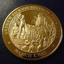 +1829 President Andrew Jackson Inauguration - SOLID BRONZE Medal - Uncirculated