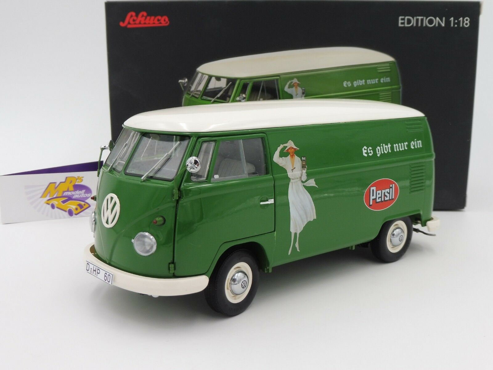 Schuco 00366   VOLKSWAGEN VW t1 Transporter anno 59-63 verde-BIANCO  PERSIL  1 18