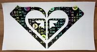 Roxy Multicolor Unique Sticker - Heart Shaped - 11 Wide - Free Us Shipping