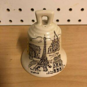 Small-Ceramic-Bell-French-Vintage-Emaux-d-039-art-Fait-Main-Paris