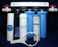 Whole House Fluoride Removal Water Filtration System -4 Sizes Includes Filters