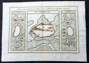 1755 Prevost Antique Map of Wuhan in Hubei, China - Huangzhou & Hoang Tcheou Fou