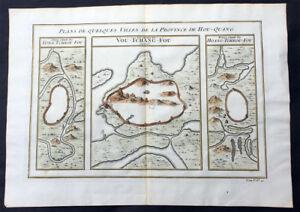 1755 Prevost Antique Map of Wuhan in Hubei, China - Huangzhou & Hoang Tcheou Fou
