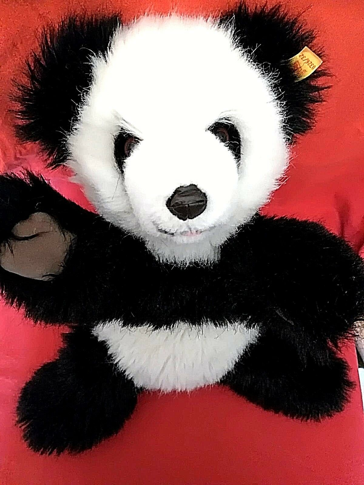Steiff 0326/32 - Teddybär Pandabär Molly 32 cm schwarz/weiß wie NEU sehr süß + k