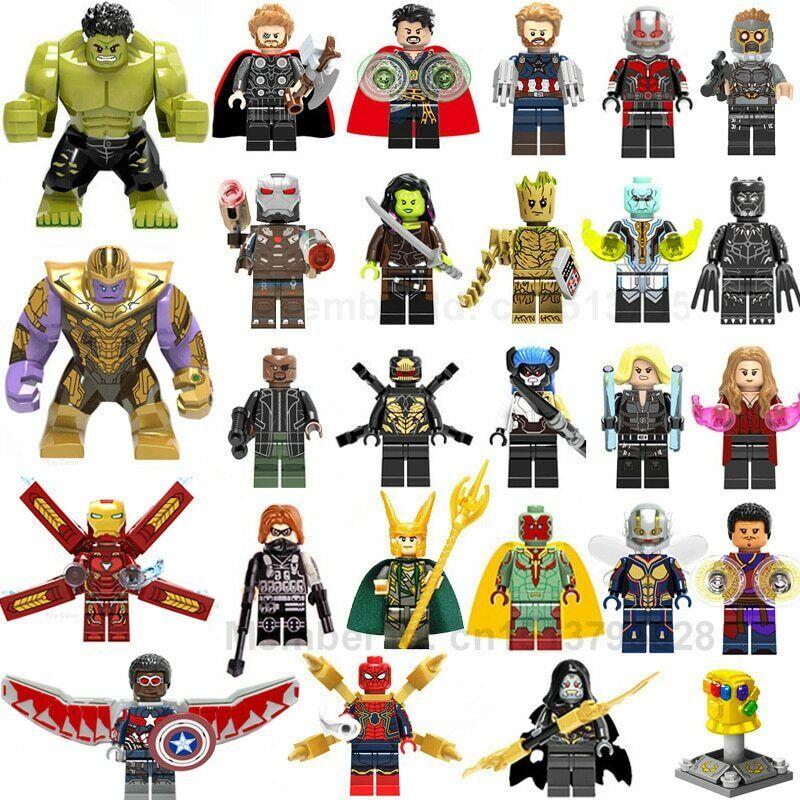 42Pcslot Lego Pieces Super Heroes lEGOED Marvel Avengers Endgioco Iron uomo Thor