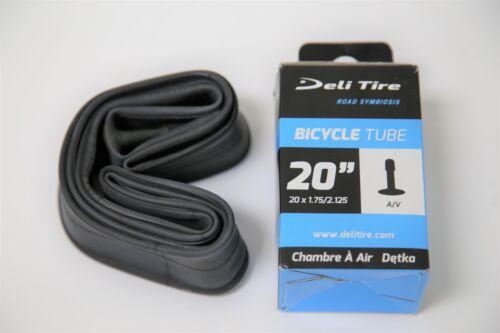 """Schrader Valve 1.95 2-Pack Deli 20/"""" x 1.75 2.125 BMX Bike Tire Inner Tube"""