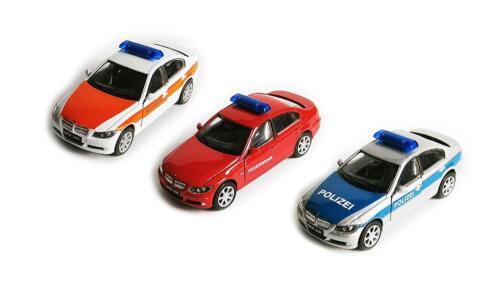 Bmw 330i policía bomberos emergencias auto modelo maqueta de coche de juguete 3-var 11