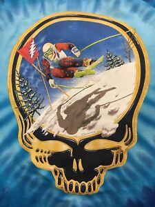 0e376b0977d2 Grateful Dead Down Hill Skier Tie Dye Shirt (size Large) Fire On The ...