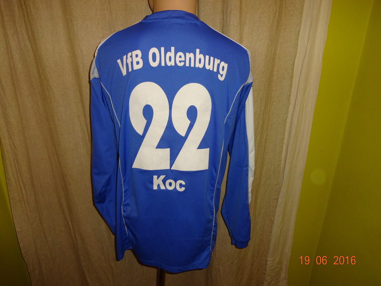 VfB Oldenburg uhlsport uhlsport uhlsport Langarm Matchworn Trikot 2007/08 + Nr.22 Koc Gr.M- L d35c5a