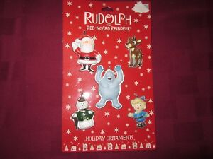 RUDOLPH-THE-RED-NOSED-REINDEER-SET-OF-5-CHARACTERS-CHRISTMAS-HOLIDAY-ORNAMENTS