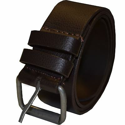 """Da Uomo Marrone PU Pelle Cintura Fibbia Per Cintura Jeans Taglie 28/"""" 50 da Kruze"""