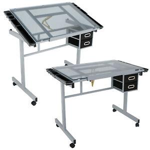 Art-Hobby-Craft-Table-Desk-w-2-Drawers-Drawing-Art-Scrapbooking-Homework